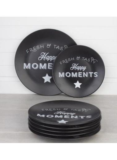 Acar Ege Mat Siyah 7 Parça Moments Pasta Takımı Renkli